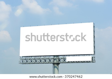 Blank billboard for new advertisement. - stock photo