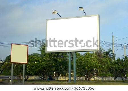 Blank billboard for new Advertising - can place your design here