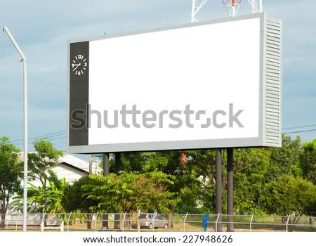 Blank Billboard in Stadium - stock photo