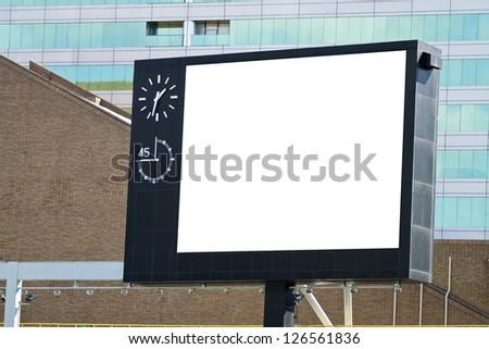 Blank Billboard in Taipei Stadium - stock photo