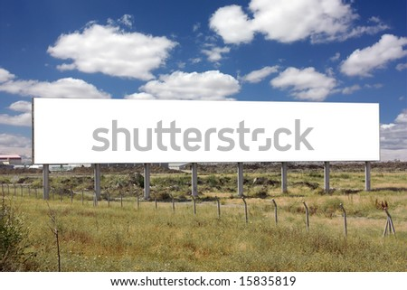 Blank Billboard - Including clipping path around blank area. - stock photo