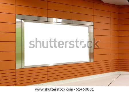 blank billboard indoor - stock photo
