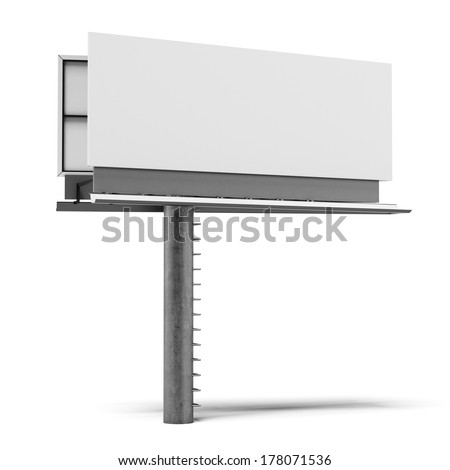 Blank billboard isolated - stock photo