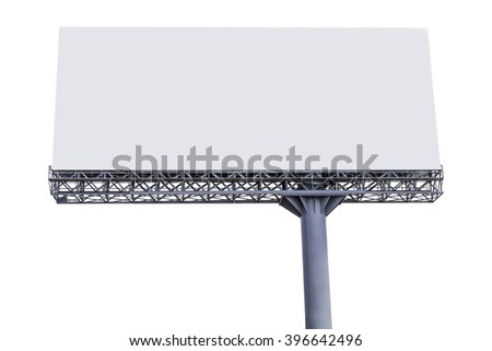 blank billboard on white background. - stock photo