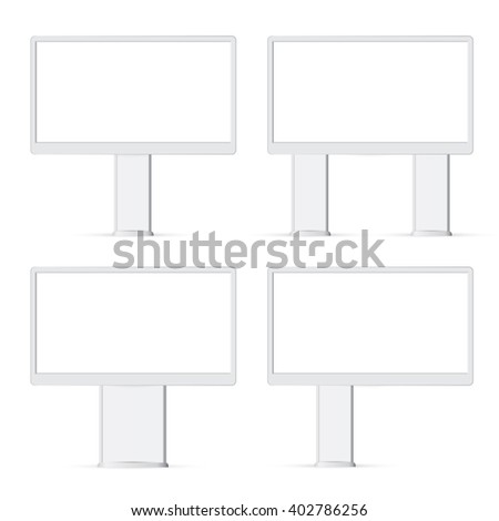 Blank billboard ready for new advertisement, attract billboard, outdoor advertisement bigboard, advertisement display - stock photo