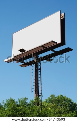 Blank billboard sign ready for your advertisment.