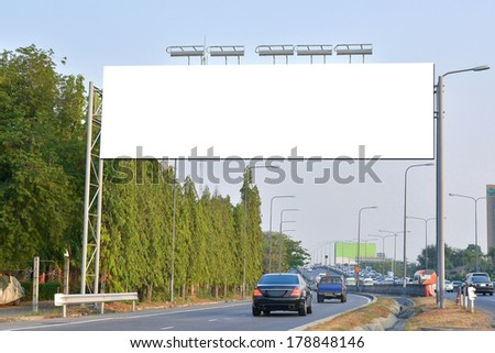 Blank billboard useful for new advertisement - stock photo