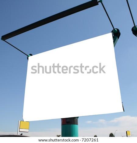 blank billboards - stock photo