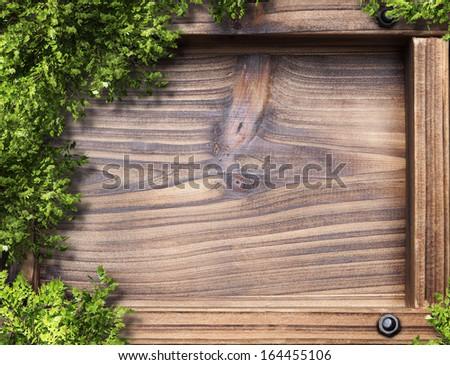blank blackboard copyspace with wood frame  - stock photo