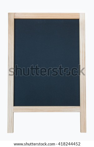 blank blackboard Isolate,Clipping Path.