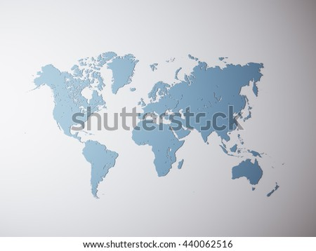 Political paper map world on gray stock vector 757607752 shutterstock blank blue texture political world map 3d rendering empty concrete wall background high gumiabroncs Image collections