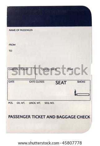 Blank boarding pass - stock photo