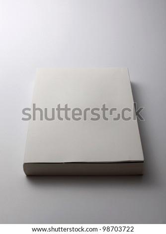 Blank book - stock photo