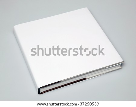 Blank book cover - stock photo