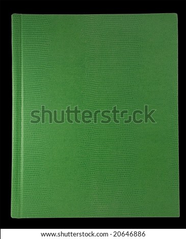 blank book cover green alligator texture - stock photo