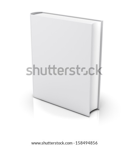 Blank book cover - isolated on white background