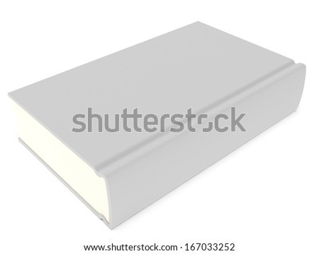 Blank book cover over white background. 3D render. Studing illustration. Back to school.