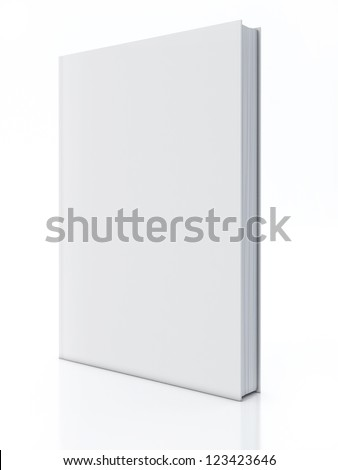 Blank book isolated over white - stock photo