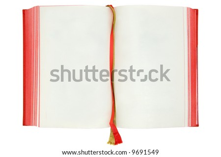 Blank Book Pages - stock photo