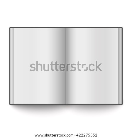 Blank book spread isolated