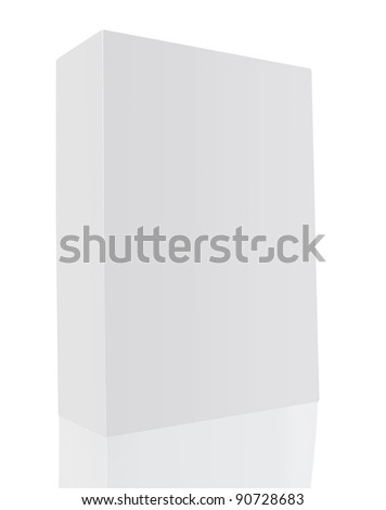 blank book white cover on white background - stock photo