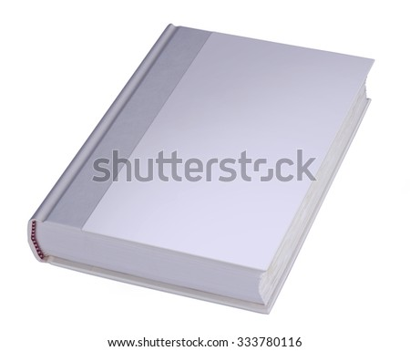 Blank book with hard cover - stock photo