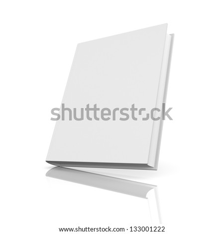 Blank book with reflection - stock photo