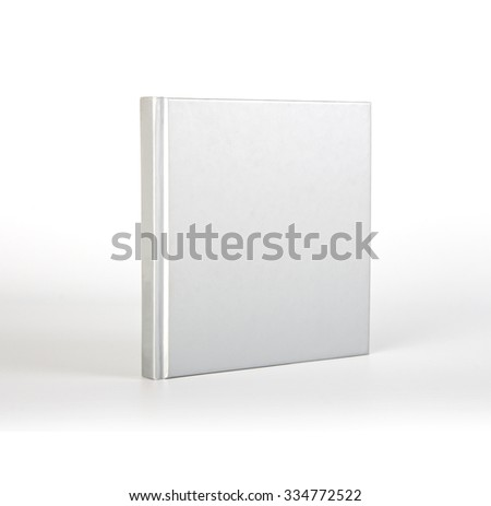 Blank book with shadow over white background  - stock photo