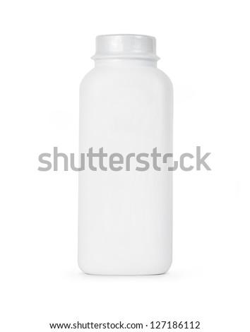 Blank bottle isolated on white - stock photo