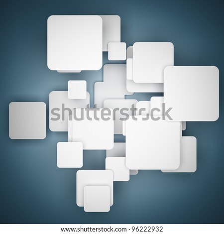 Blank box for messages - stock photo