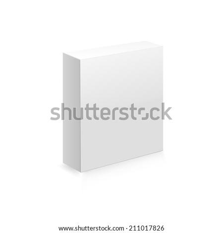 Blank box on white background. Raster copy - stock photo