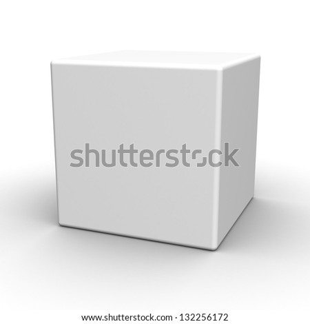 Blank box on white background. The space for your text or image - stock photo