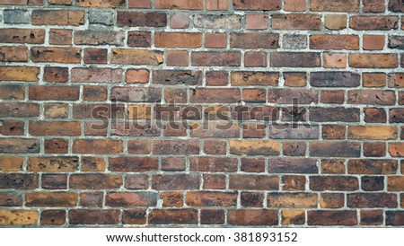 Blank Brick wall background