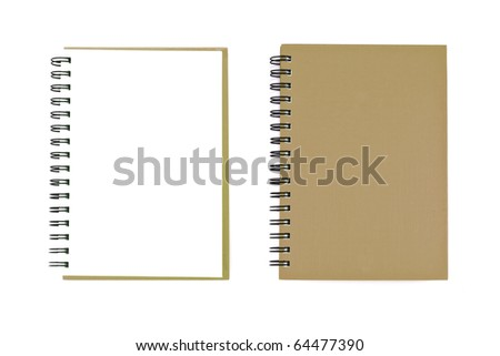 Blank brown Note Book For write anythings in it