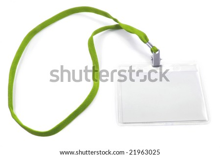blank business badge isolated on white - stock photo