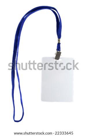 Blank business badge isolated on white background - stock photo
