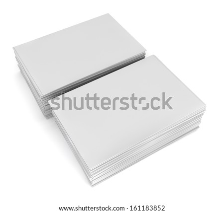 Blank business cards. 3d illustration on white background