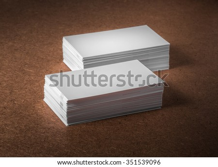 Blank Business cards, Studio shot