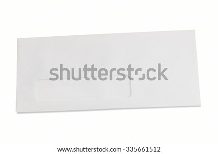 Blank Business 9 1/2 inch  Envelope with Window and Clipping Path for your copy - stock photo