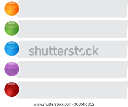 blank business strategy concept infographic diagram bullet point list illustration Five 5 - stock photo