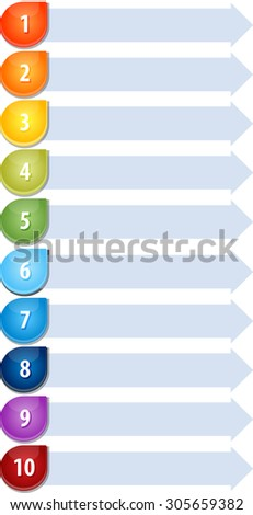 Blank business strategy concept infographic diagram illustration Bullet List Ten - stock photo