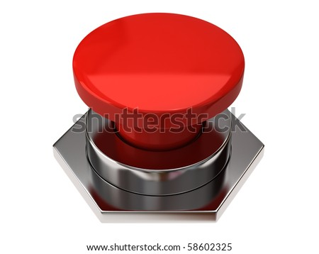 Blank button - stock photo