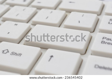 Blank button on the keyboard - stock photo