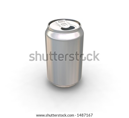 Blank can - 3D render