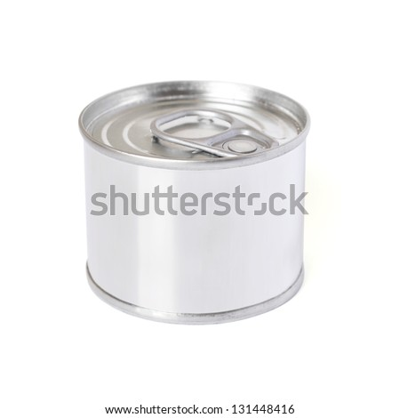 Blank can isolated on white background - stock photo