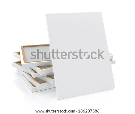 ... canvas-or-poster-with-pile-of-canvas-on-floor-and-wall-background
