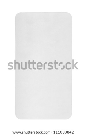 Blank card , Isolated on white - stock photo