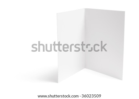 Blank Card on White Background - stock photo