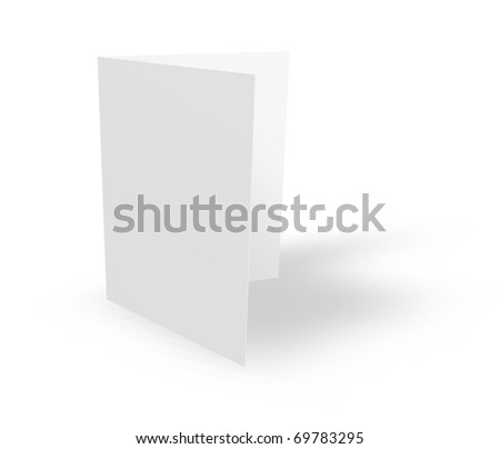 blank card on white background - 3d illustration - stock photo
