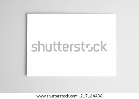 Blank Card Stock Paper Blank Card or Sheet of Paper